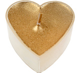 Gold heartshaped tealights 4 pcs
