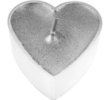 Silver heartshaped tealights 4 pcs