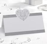 Place cards 50 pcs Silver - Vintage Romance