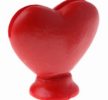 Heartshaped place card holder 2 pcs