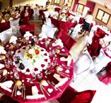 Plain round table cloth scarlet