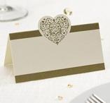 Place cards 50 pcs Gold - Vintage Romance