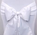 Chair sashes, White, 10 pcs