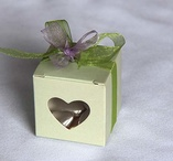Weddingfavour with heartshaped window Ivory 50 pieces