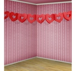 Garland red hearts