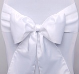 Chair sashes, White,