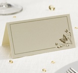 Place cards 50 pcs Gold - Butterfly