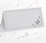 Place cards 50 pcs Silver - Butterfly
