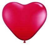 Sydänmallinen Punainen XL 10 kpl