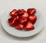Red Foil hearts - 25 st