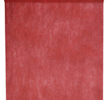Plain table cloth on roll 10 m red